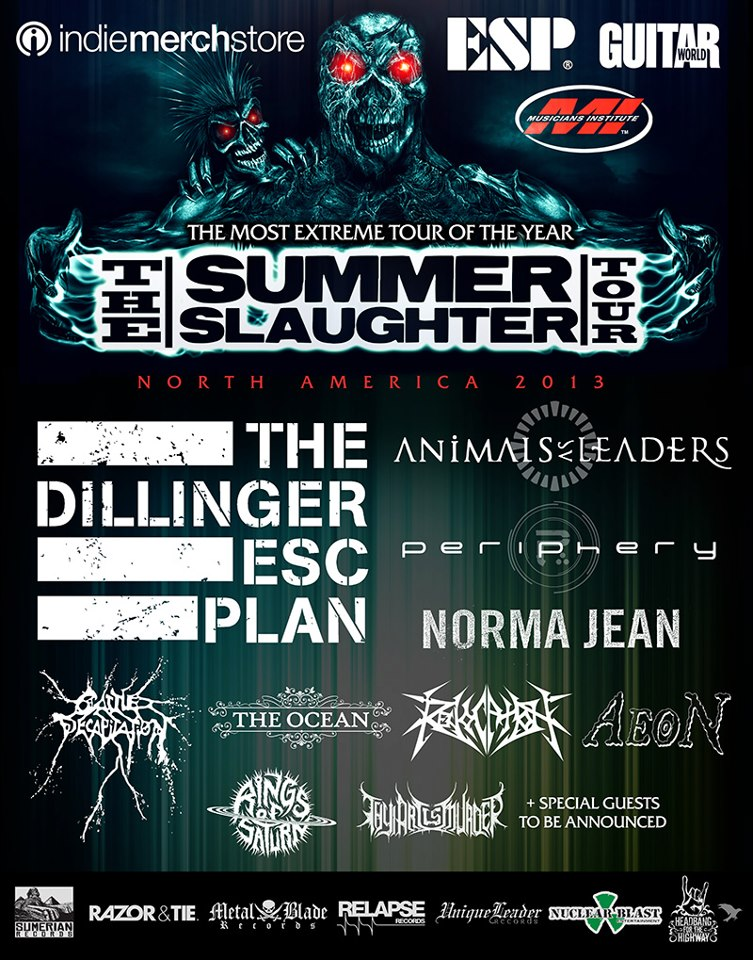 The Summer Slaghter Tour 2013 - Photo Credit: thesummerslaughtertour.com
